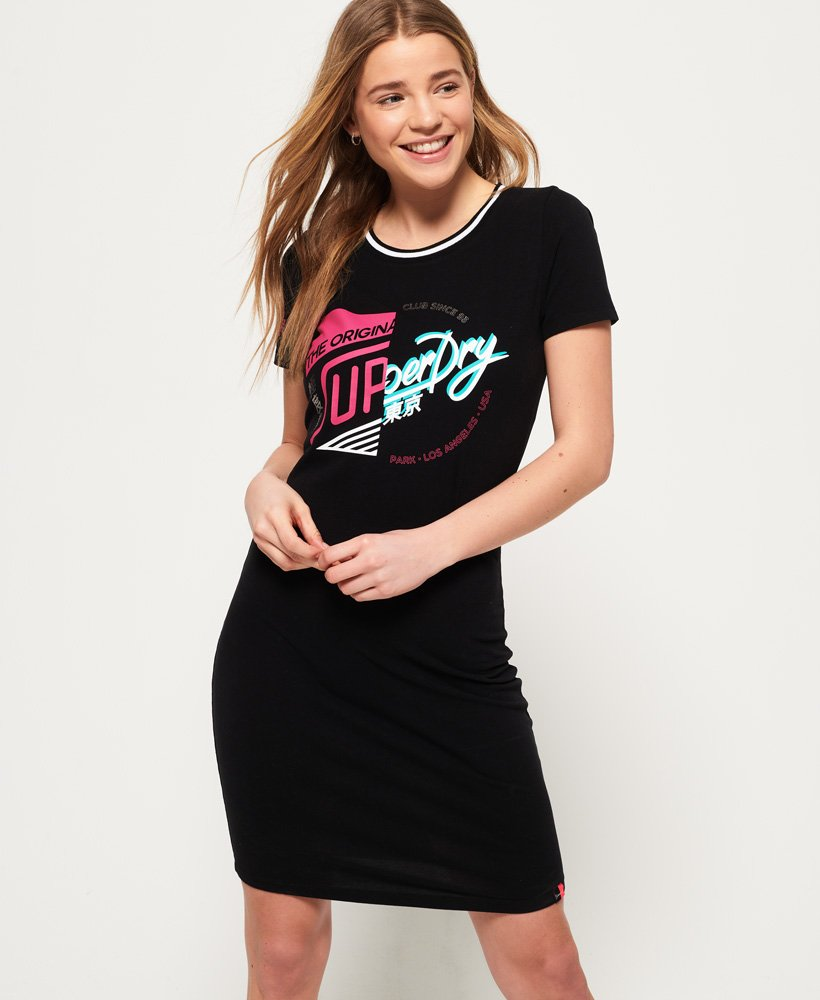 superdry t shirt jurk