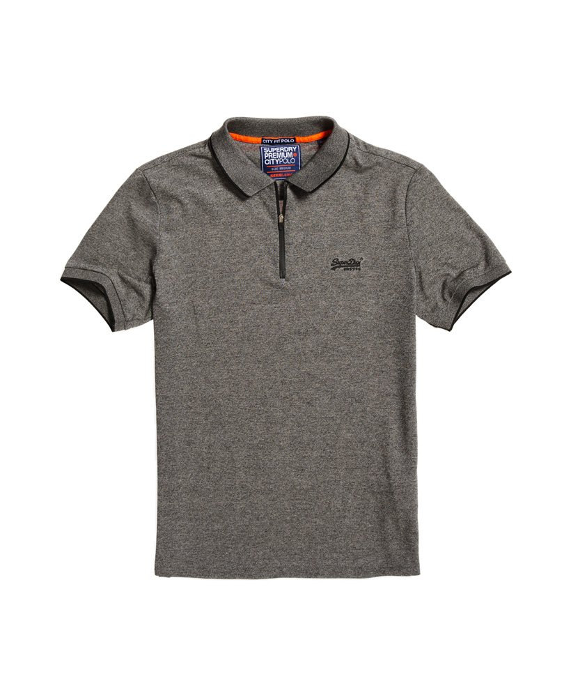 Superdry City Sport Zip Polo Shirt Mens Polo Shirts