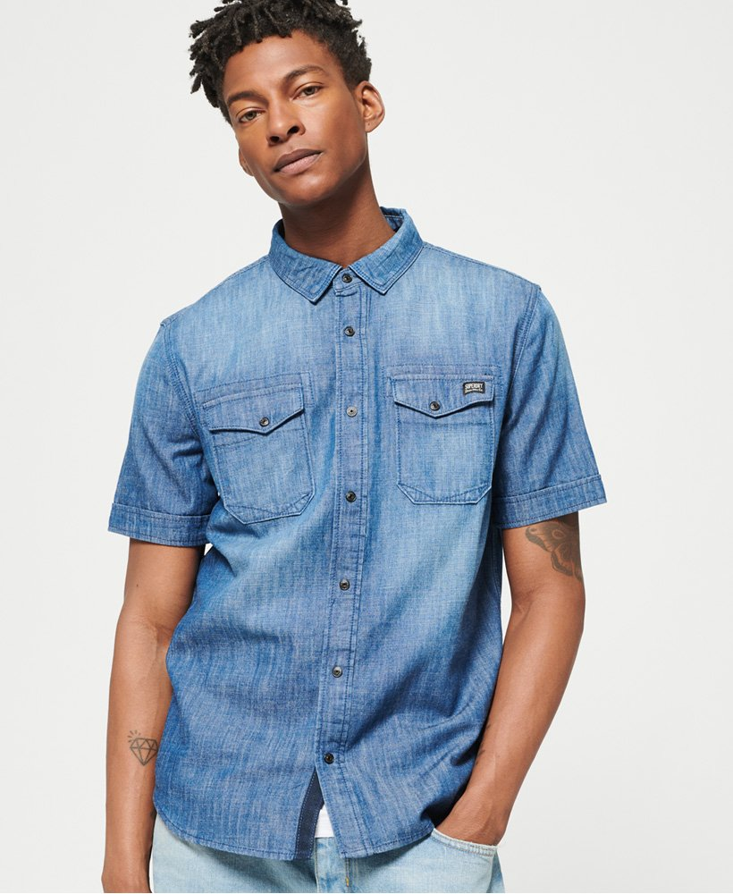 Superdry Dragway Denim Shirt  thumbnail 1
