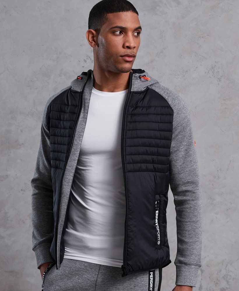 Superdry Felpa con zip e cappuccio Gym Tech Hybrid