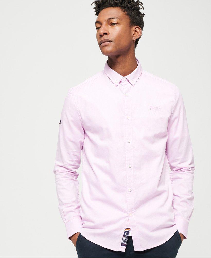 Superdry Premium Button-down-Hemd mit langen Ärmeln