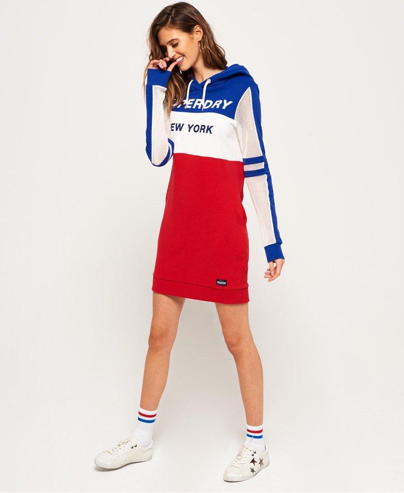 Superdry Mesh Sleeve-kjole med hette