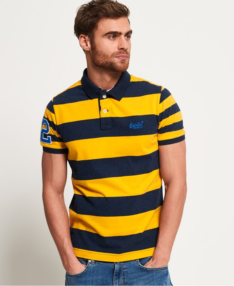 Superdry Louder Stripe Short Sleeve Polo Shirt thumbnail 1