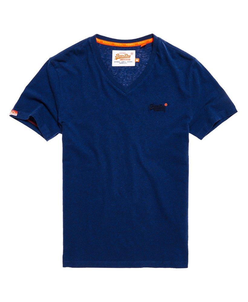 Superdry Orange Label Hommes T shirt Brodé (Bleu)