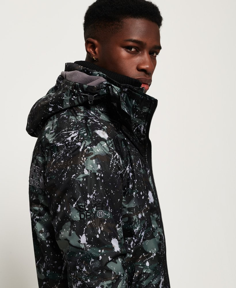 Pop Zip Print Hooded Arctic SD Windcheater jakke,Herre