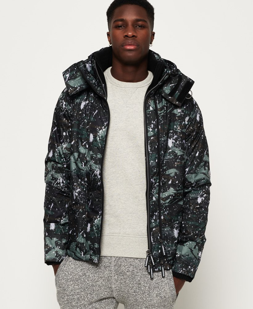 Superdry Pop Zip Print Hooded Arctic SD- Windcheater Jacket thumbnail 1