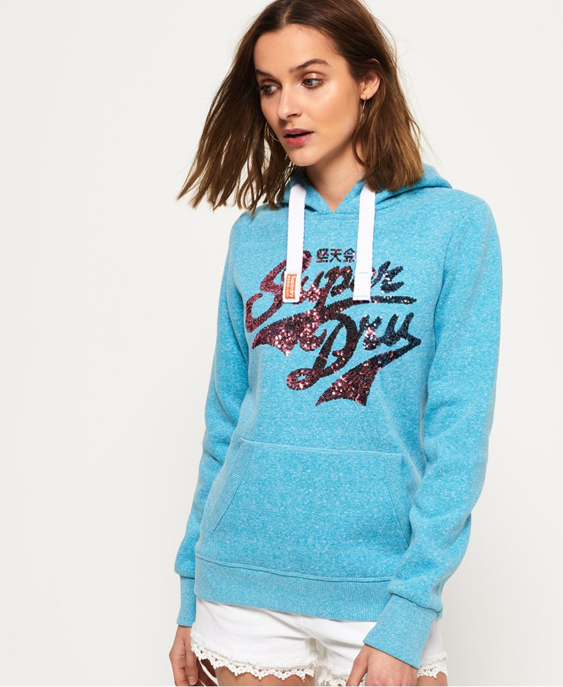 Superdry Stacker Sequin Hoodie thumbnail 1