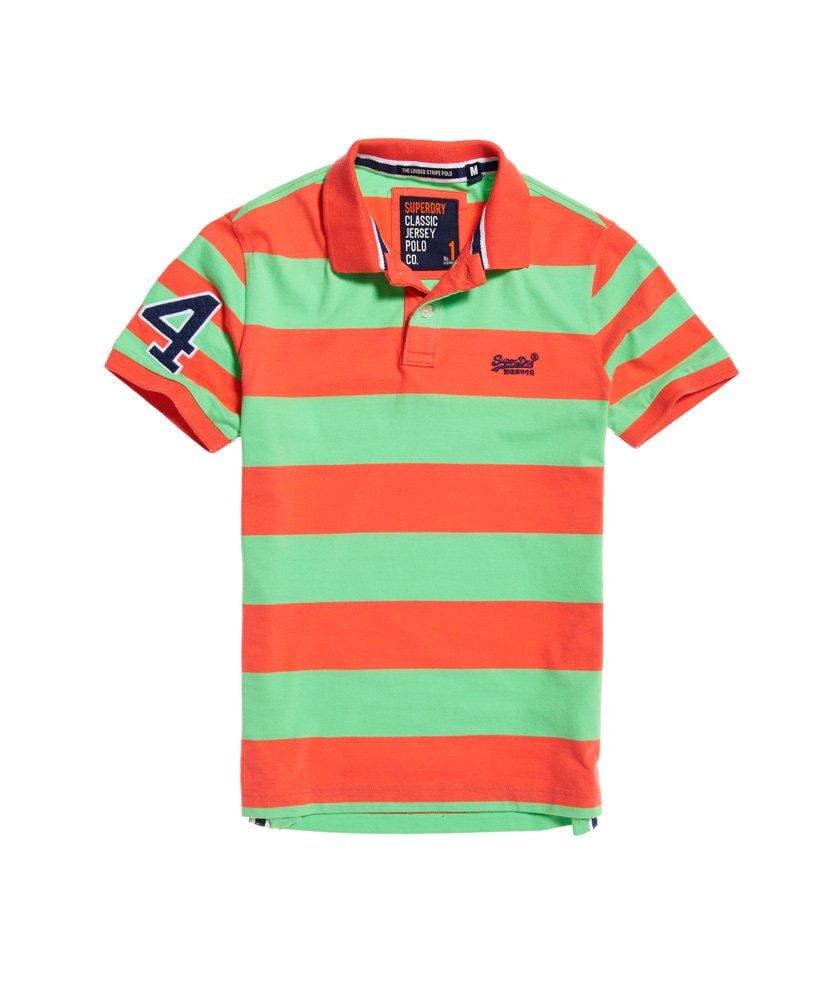 Superdry Louder Stripe Short Sleeve Polo Shirt thumbnail 1