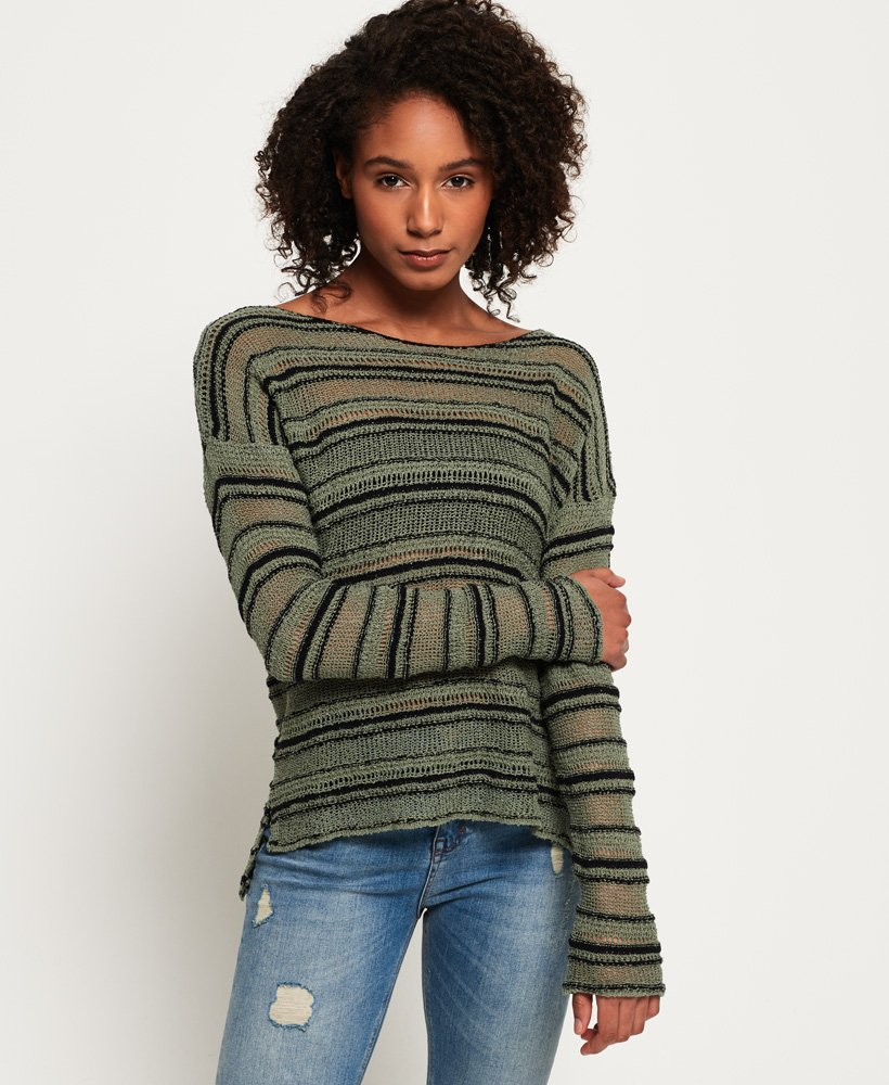 Superdry Evie Textured Slouch Knit Jumper thumbnail 1