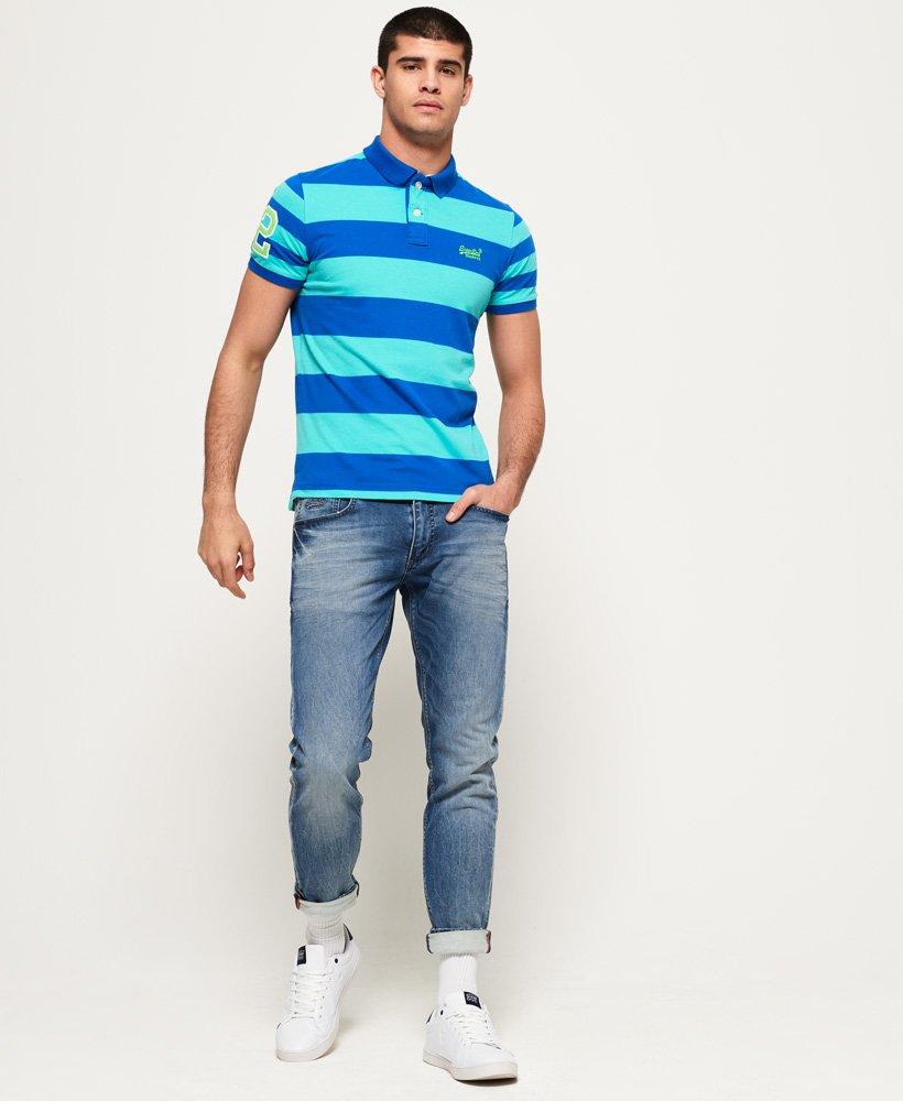 Superdry Mens Louder Stripe Short Sleeve Polo Shirt