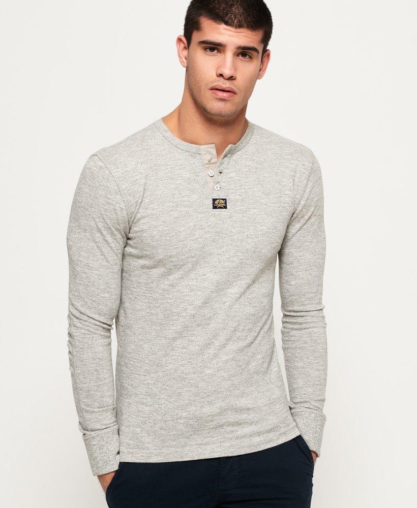Superdry Heritage Grandad shirt met lange mouwen