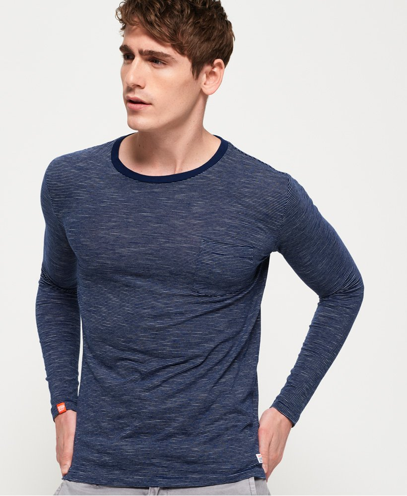 Superdry Lite Loom Clayton Stripe Long Sleeve T-Shirt thumbnail 1