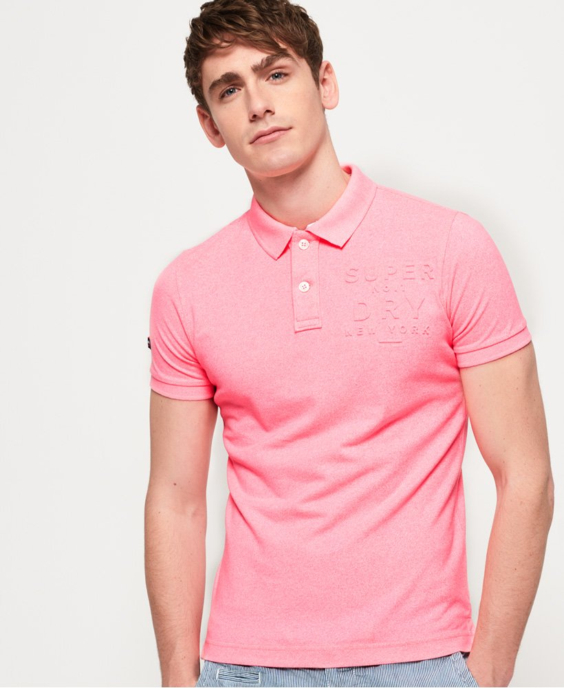 Superdry Classic Embossed Pique Polo Shirt thumbnail 1