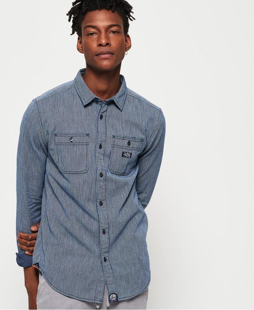 Superdry Indigo Loom Long Sleeve Shirt