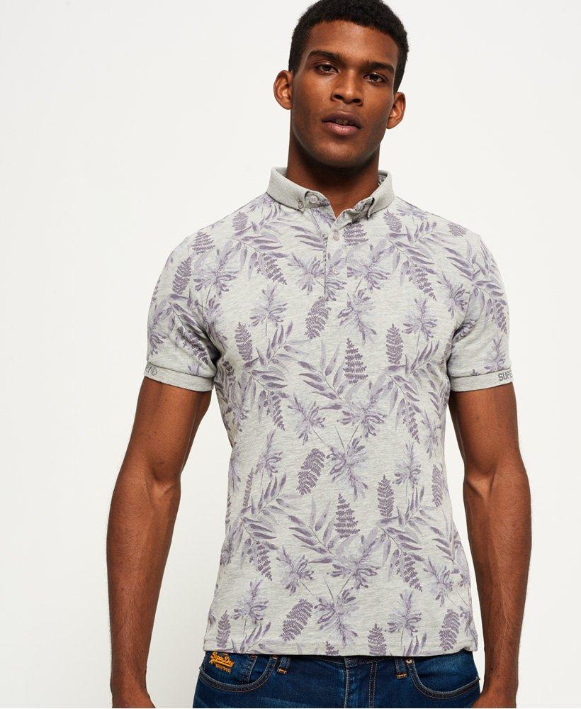 Superdry City Jersey-Polohemd mit durchgehendem Print