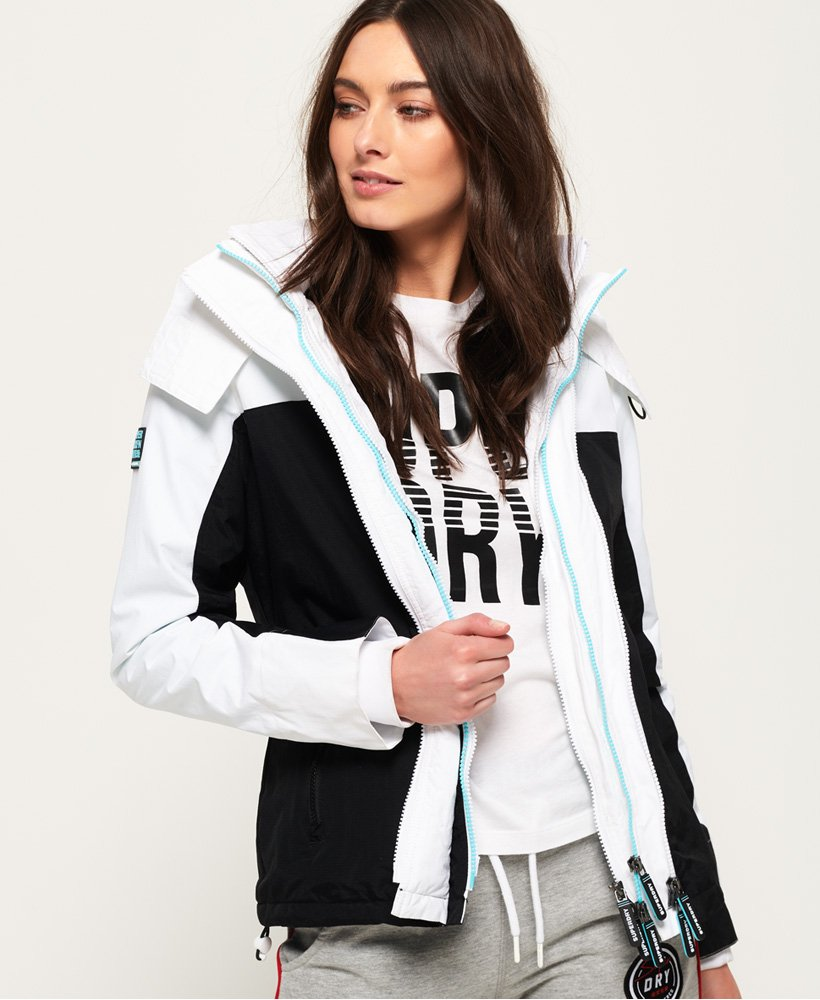 735908a47 Superdry Pacific Arctic Hooded Pop Zip SD-Windcheater - Women's ...