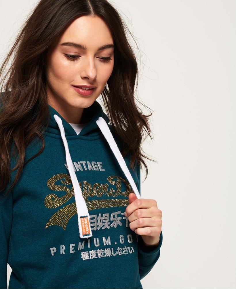 Superdry Premium Goods Rhinestone Hoodie thumbnail 1