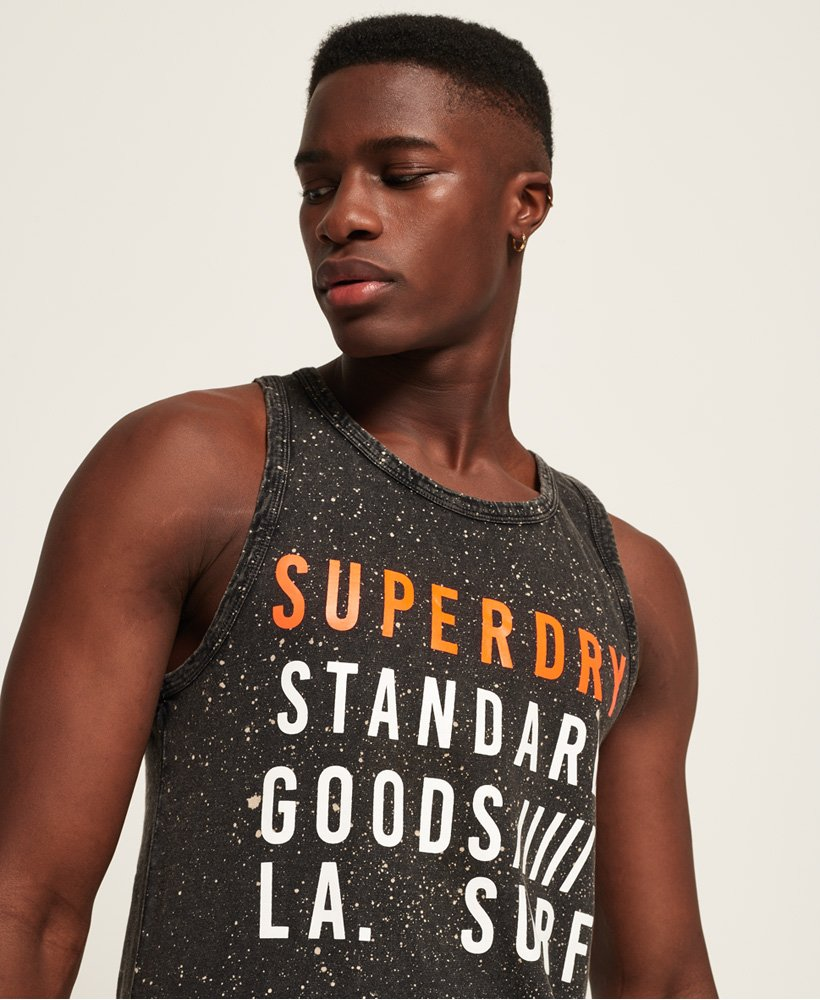 Superdry Mens Surplus Goods Washed Vest Top