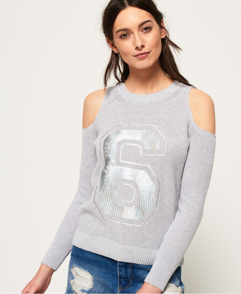 Superdry Beach Club Cold Shoulder Knit Top