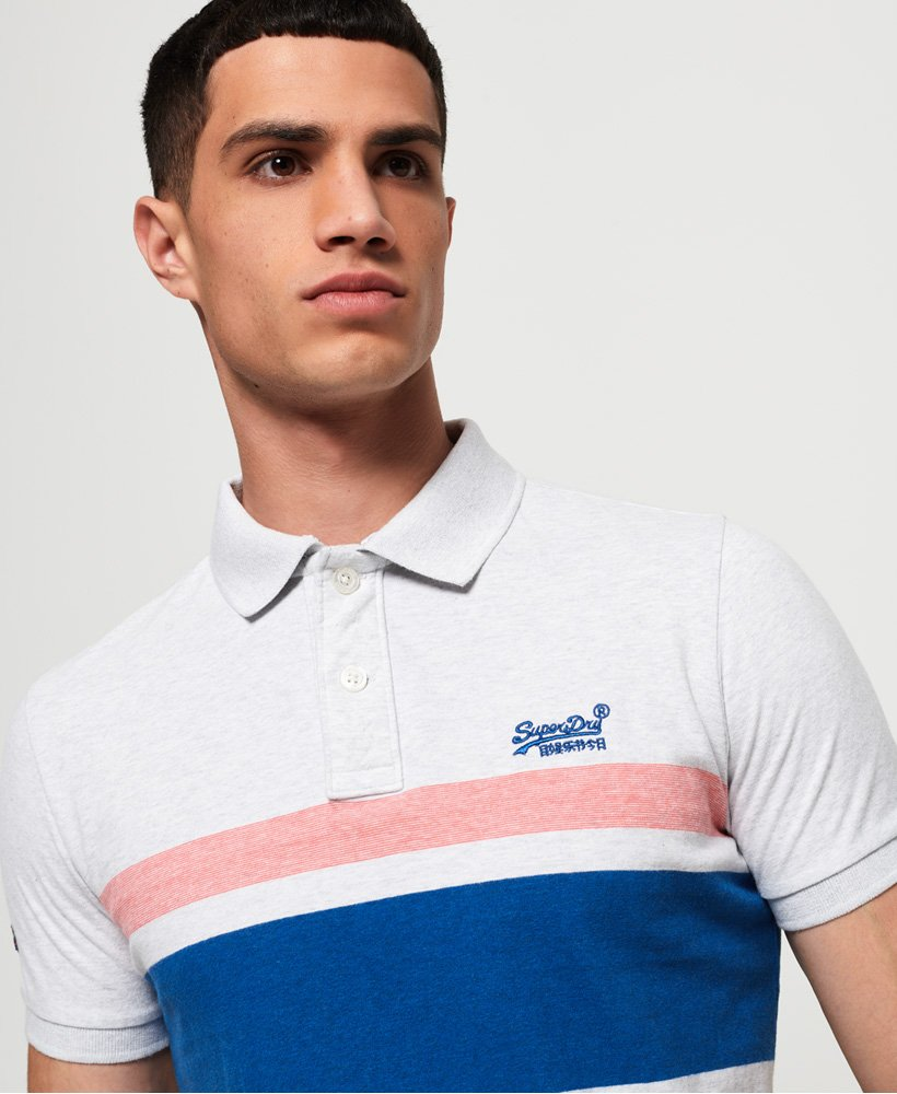 Superdry Classic Hardwick Stripe Polo Shirt thumbnail 1