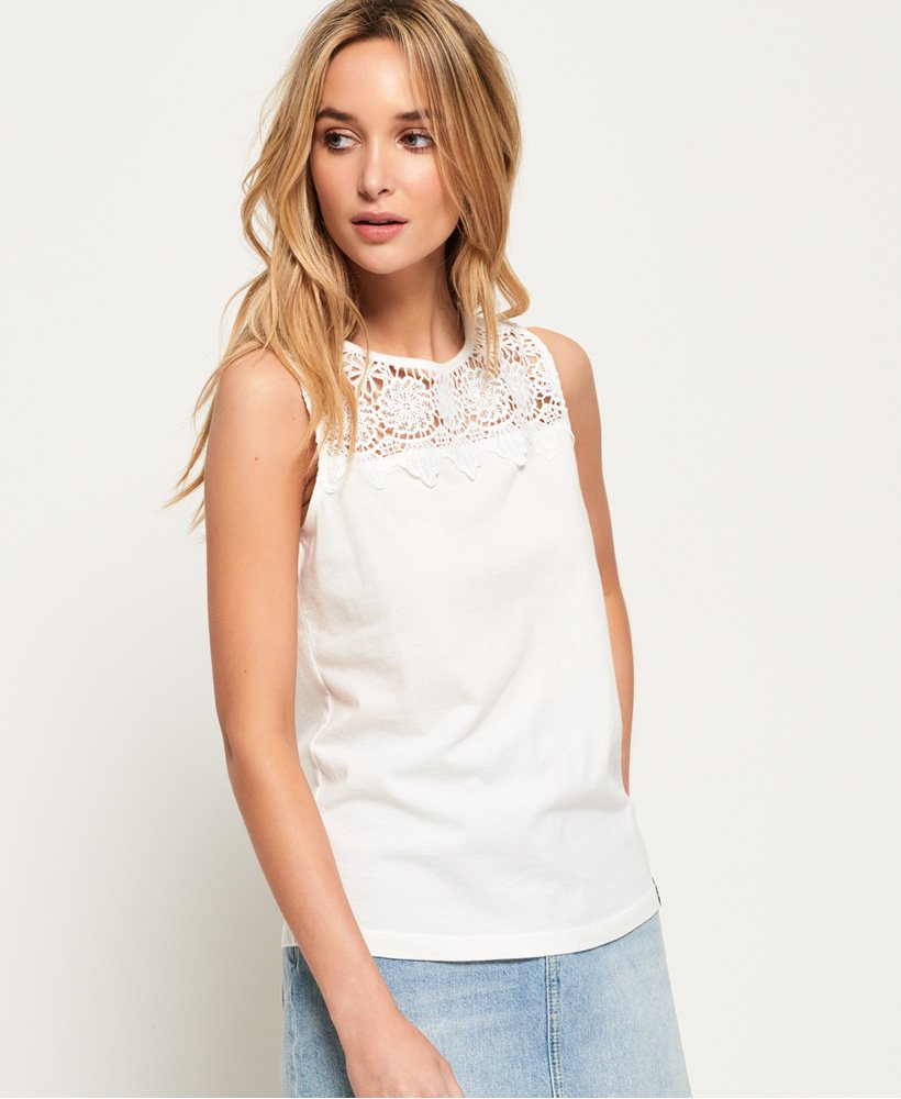Superdry Island Lace Tank Top thumbnail 1