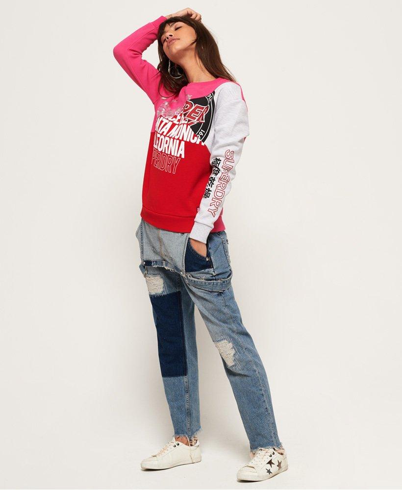 Superdry Skater Sweatshirt mit Farbblock Design Damen Hoodies