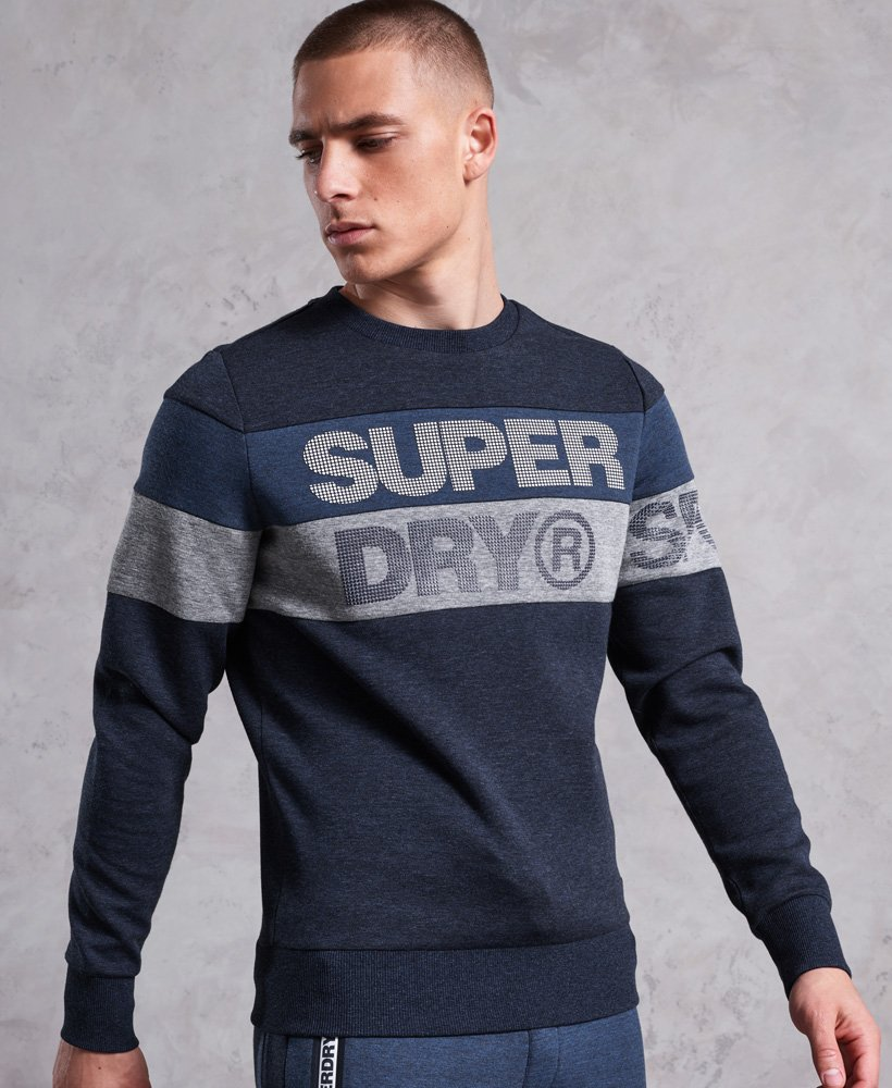 Superdry Gym Tech Cut Crew Jumper