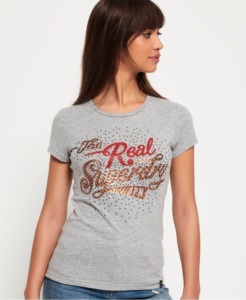 Superdry T-shirt à strass Rock thumbnail 1