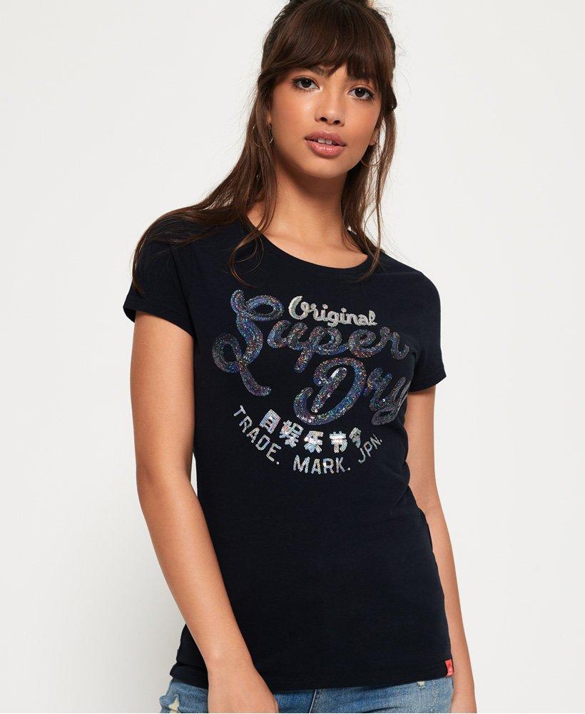Superdry T-shirt à sequins Original thumbnail 1
