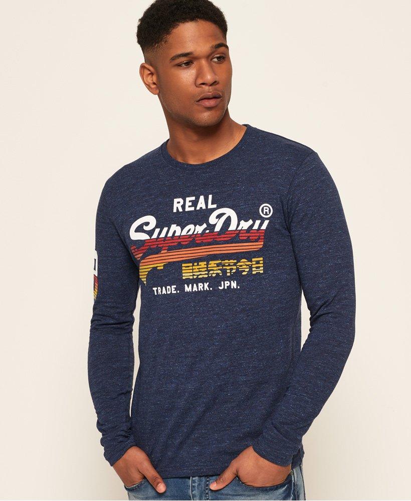 6d53efa2 Mens - Vintage Logo Cali Horizon T-Shirt in Pier Blue | Superdry