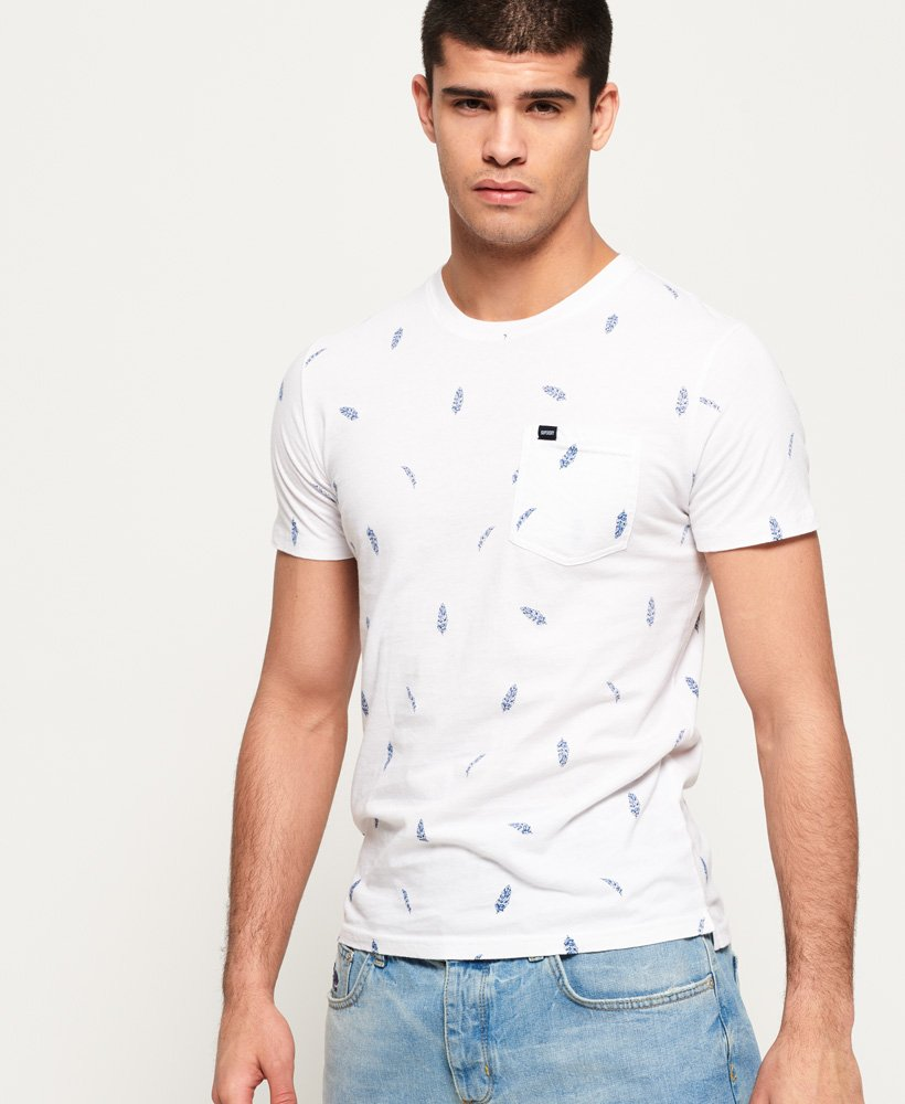 Superdry All Over Print Lite Pocket T-Shirt thumbnail 1