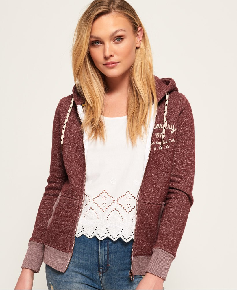 Superdry Rylee Embroidered Zip Hoodie thumbnail 1