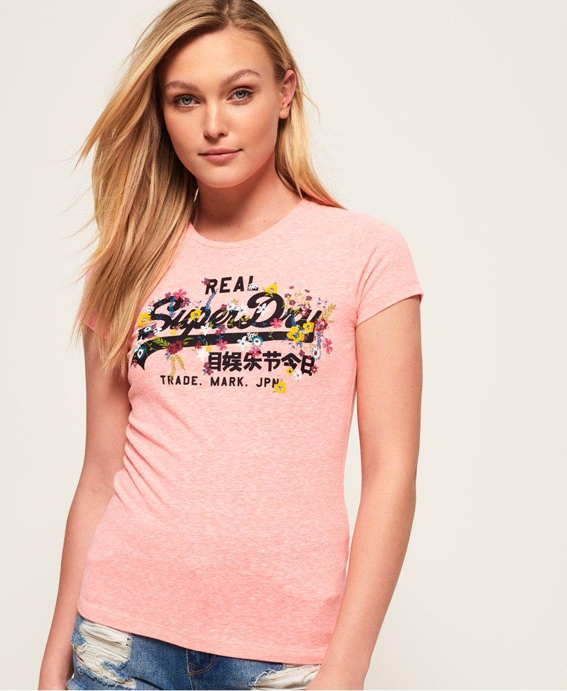 Superdry Vintage Logo Puff Embroidered T-Shirt thumbnail 1