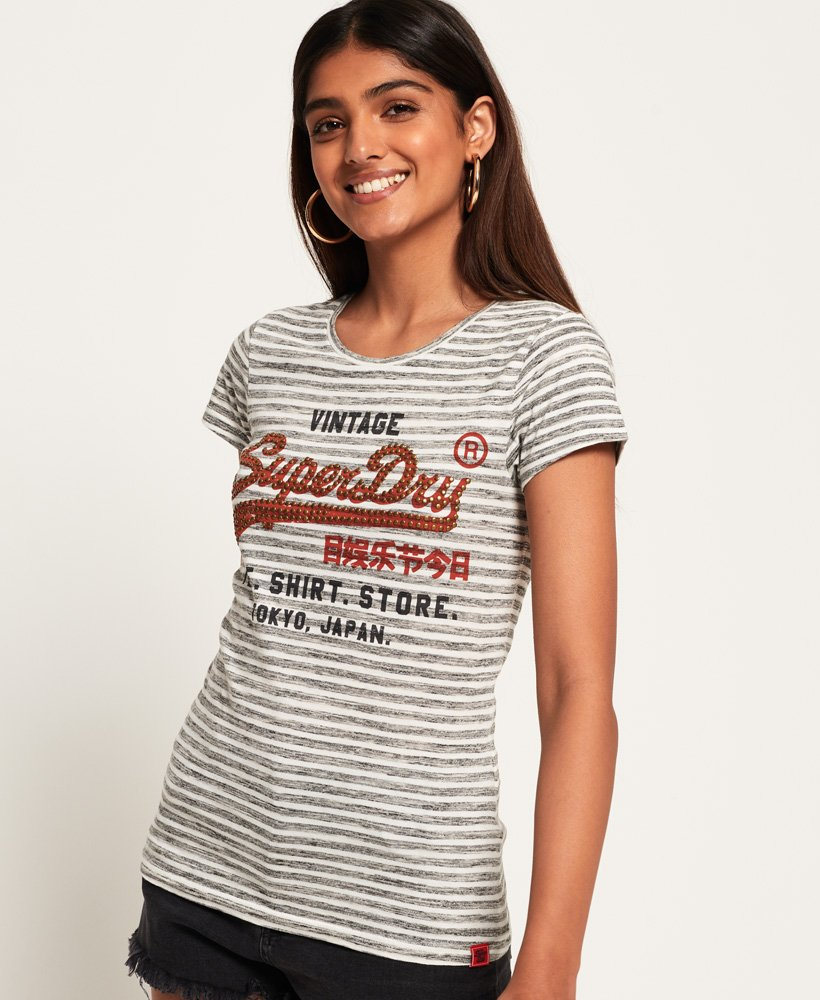 Superdry Shirt Shop Stripe T-Shirt thumbnail 1