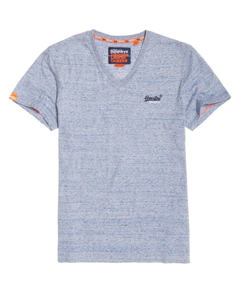 Superdry Orange Label Vintage T-Shirt mit V-Ausschnitt und Stickerei