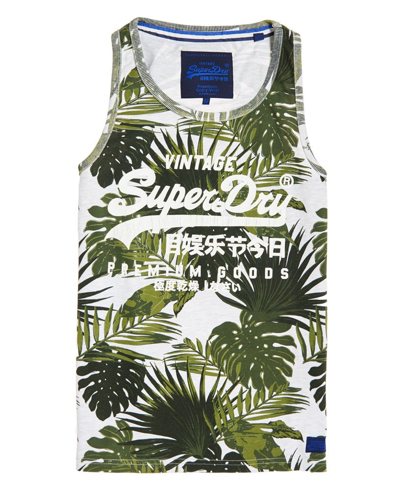 Superdry Mens Premium Goods All Over Print Vest Top