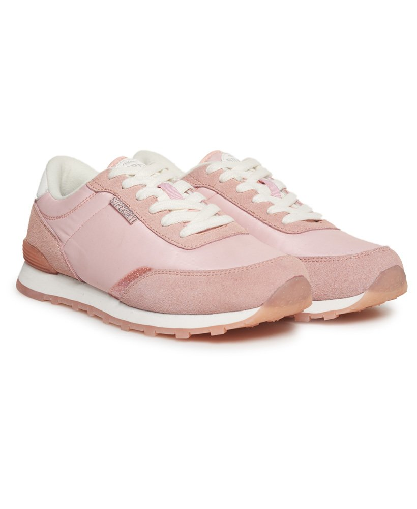 Track Runner Trainers in Blush Pink