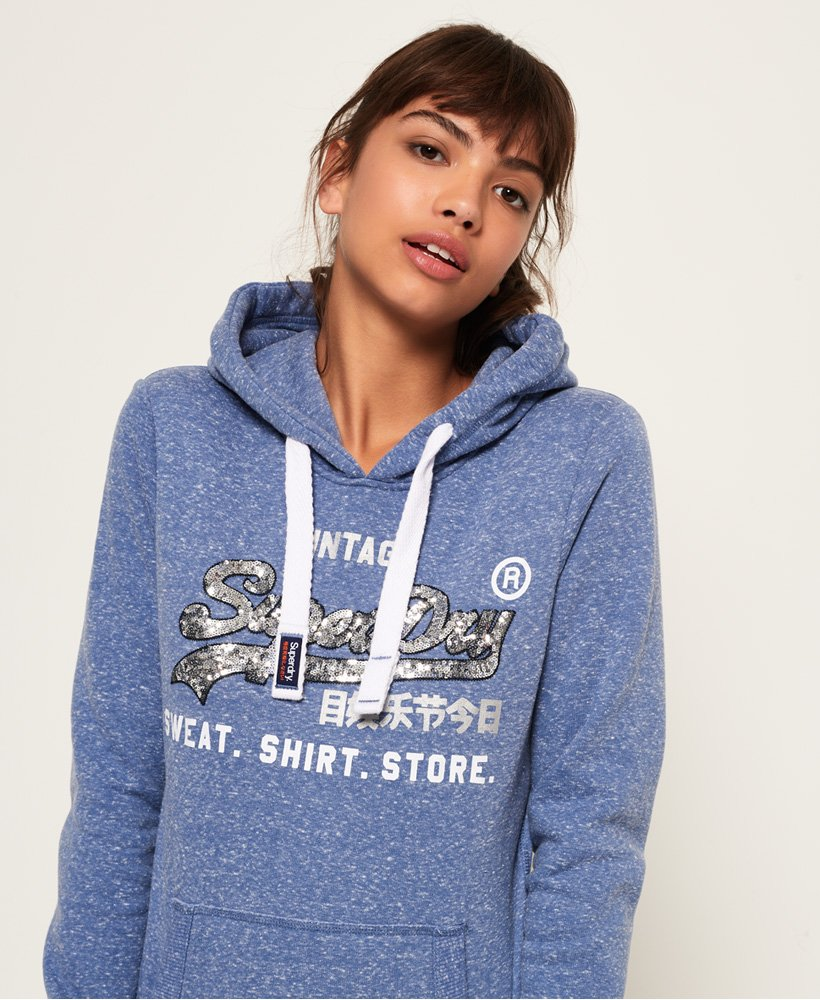 Superdry Shirt Shop Sequin Hoodie thumbnail 1
