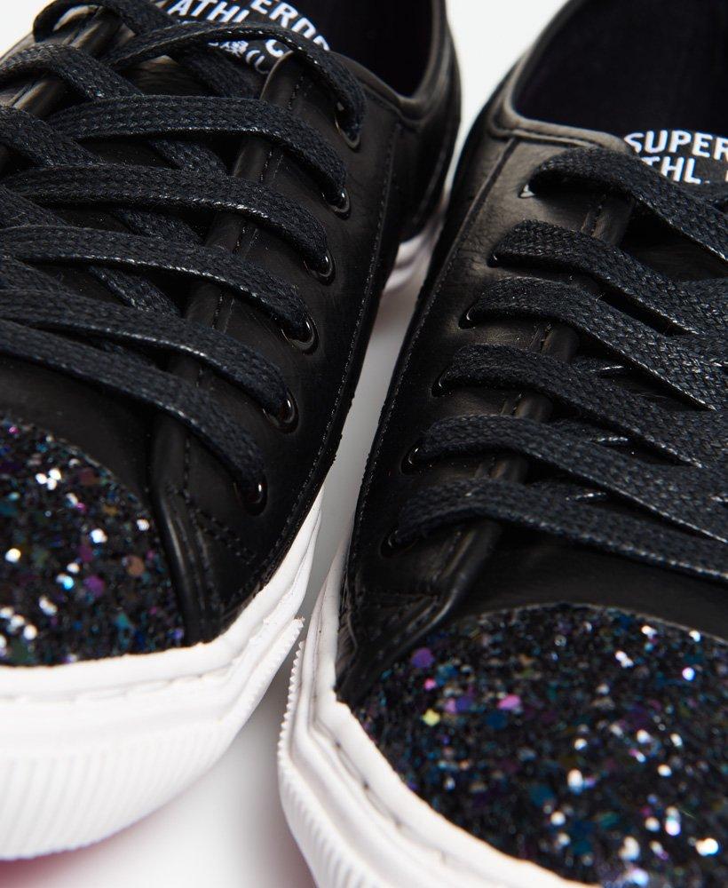 Low Pro Luxe Sneakers in Black Glitter