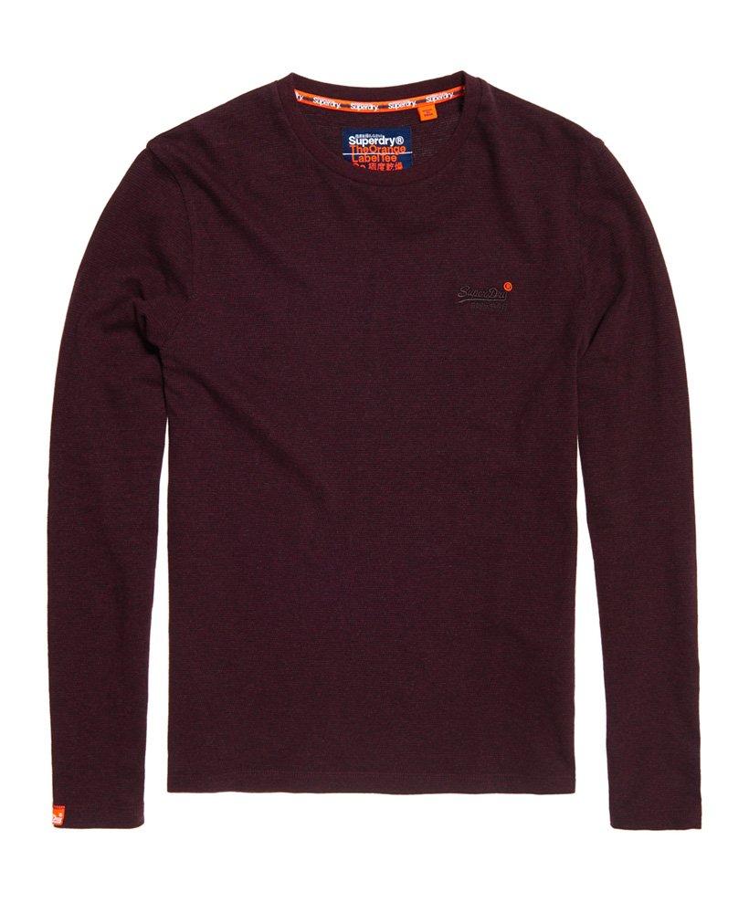 Superdry Orange Label Textured T skjorte med lange ermer