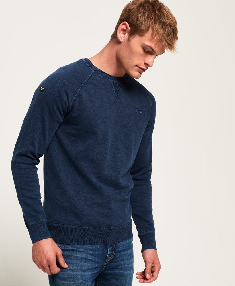 Superdry Pull à col rond Garment Dye L.A. Pulls pour Homme