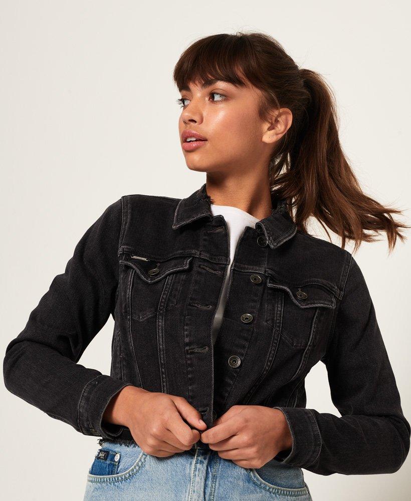 detailing 0ba8d 35e62 Giacca di jeans corta da Donna Superdry