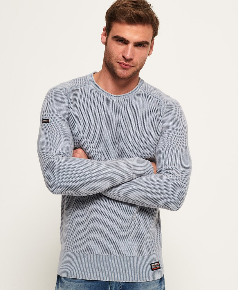 Superdry Garment Dye L.A. Textured Crew Jumper