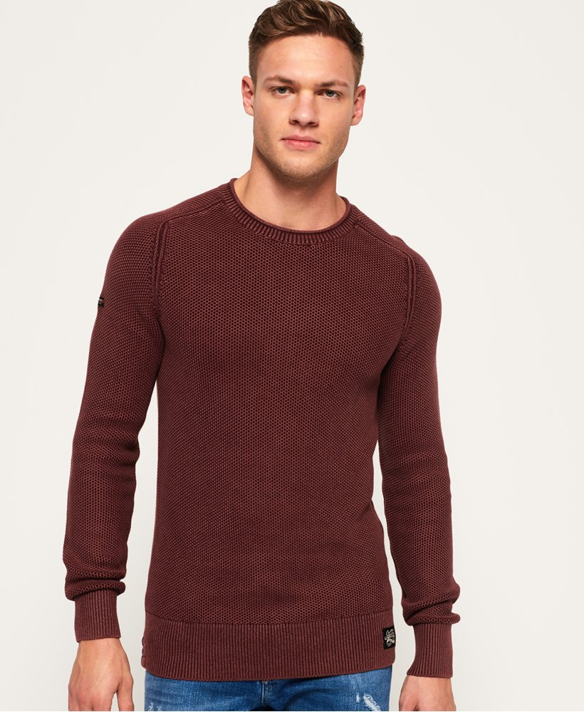 Superdry Garment Dye L.A.Textured Crew Jumper thumbnail 1