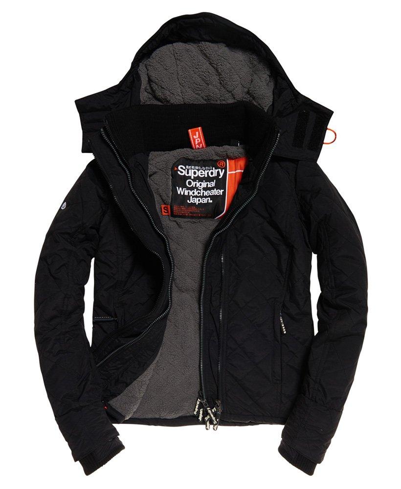 veste superdry femme capuche noire