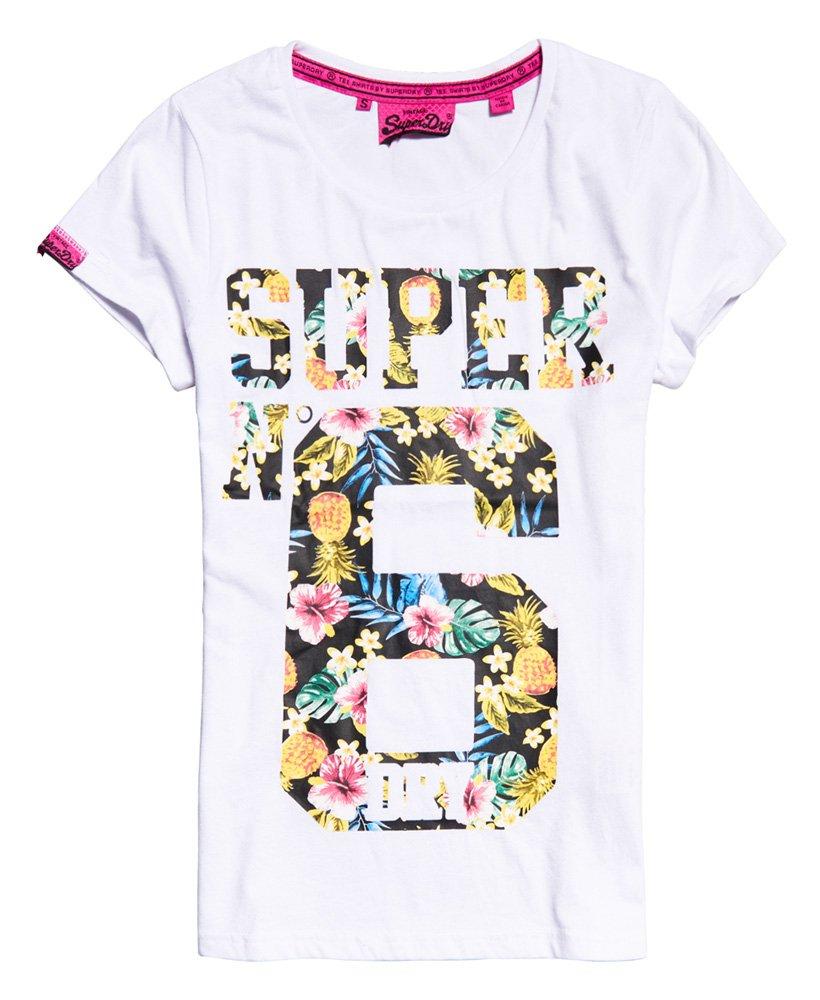 New Mens Superdry Super No 6 T-Shirt Optic