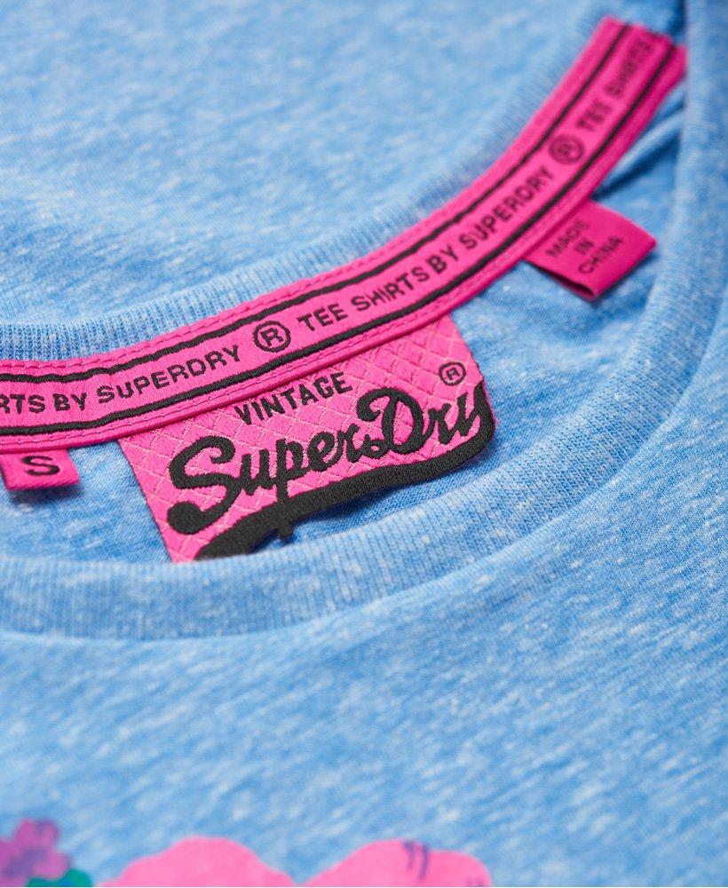 Superdry Vintage Logo Hibiscus T skjorte Dame Sale T shirts