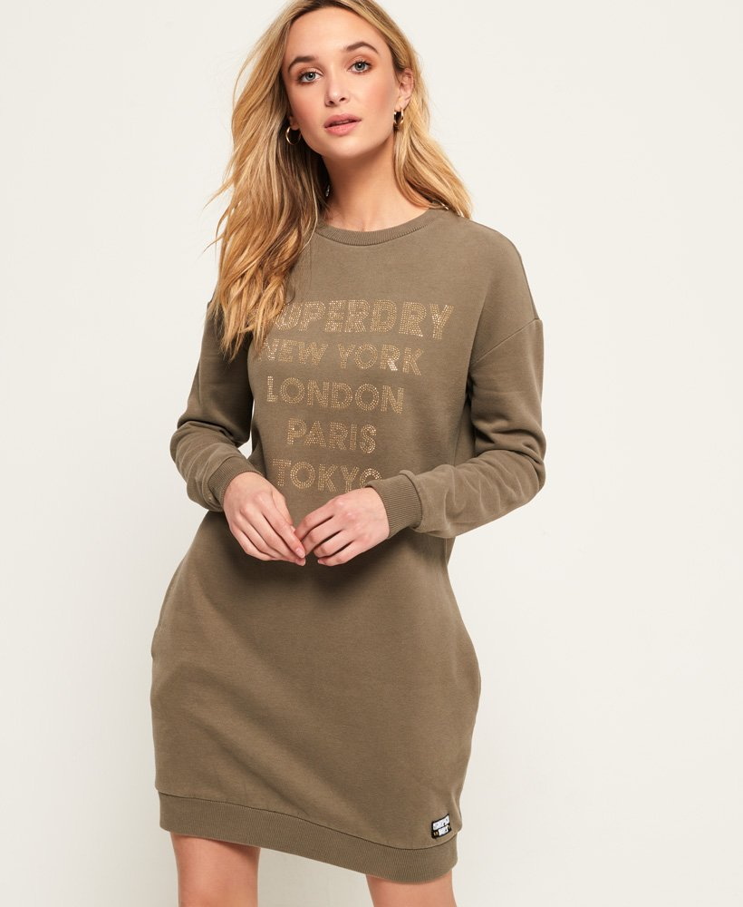 Superdry Verziertes Sweatkleid