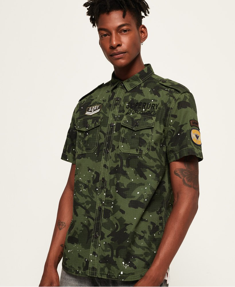 Superdry Army Tropics Short Sleeve Shirt