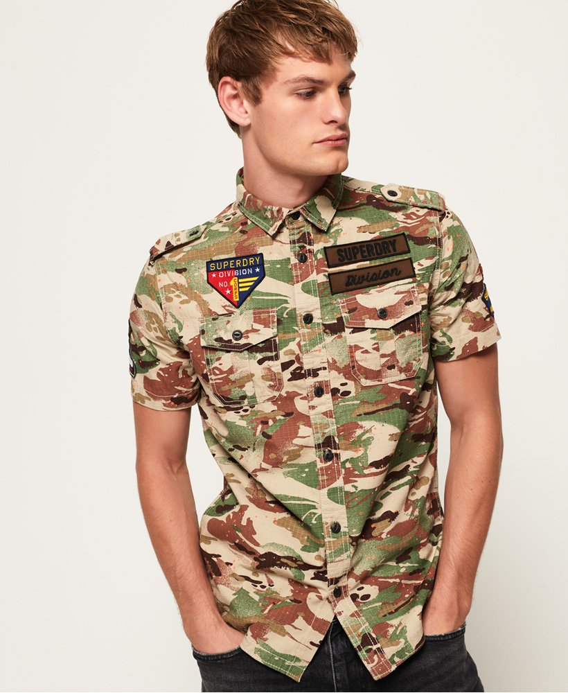 Superdry Army Tropics Short Sleeve Shirt thumbnail 1